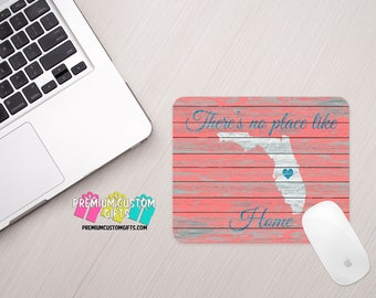 There's No Place Like Home Mouse Pad - State Mouse Pad - Personalized Mouse Pad - Custom Mouse Pad - Office Gift  - Personalized Gift