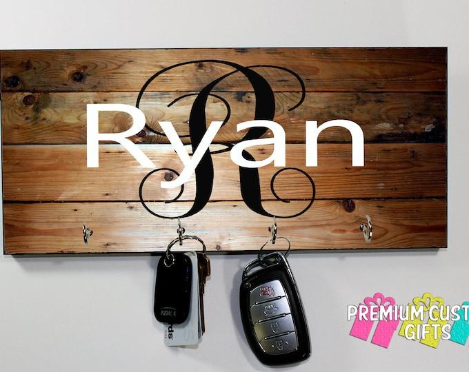 Custom Name Key Hanger - Wedding and Anniversary Gift - Custom Name Keyhanger - Housewarming Gift - Any Occasion Key Hanger Design #KH118
