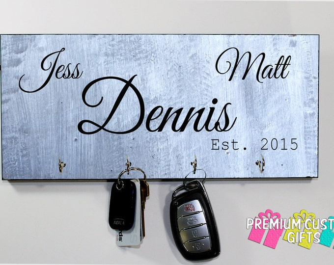 Personalized Key Holder- Client Gift- Realtor Client Gift - Housewarming Gift - Design #KH136