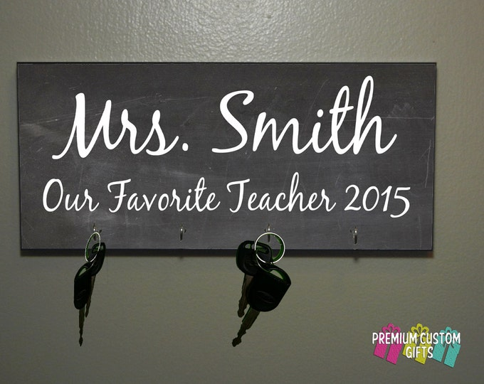 Teacher Gift - Anniversary Gift - Housewarming Gift - Any Occasion Key Hanger - Coach Gift - Mr & Mrs Gift Design#KH111