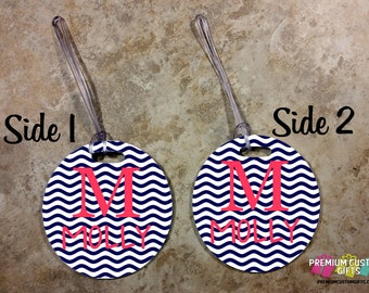 Personalized Bag Tag - Custom Travel Luggage Tag - Bag Tags - Monogram Bag Custom Tag - Personalized Monogram Bag Tag - Design #BT118