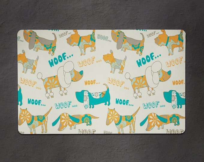 Pet Food Mat - Dog Food Bowl Mat - Food Mat - Cat Food Mat - Custom Pet Mat - Design Your Own Food Mat - 2 Sizes Available
