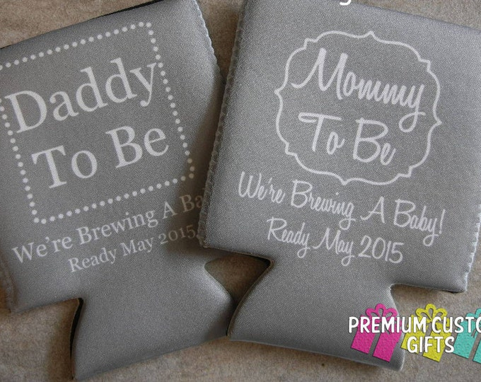 Baby Announcement Can Coolers - Wedding Announcement - Birthday Favors - Wedding - Bachelorette Can Coolers - Design#KH162