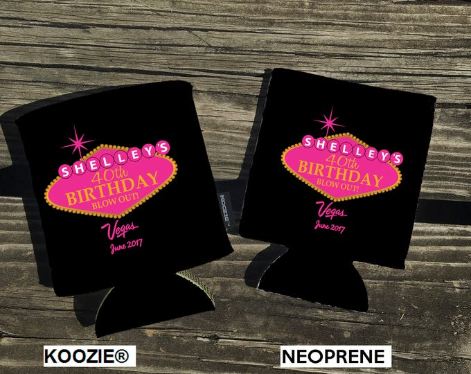 NOW Offering KOOZIE ® Brand can coolers. Vegas Themed. Your choice of Neoprene or KOOZIE ® Brand. Vacation - Beach - Bachelorette