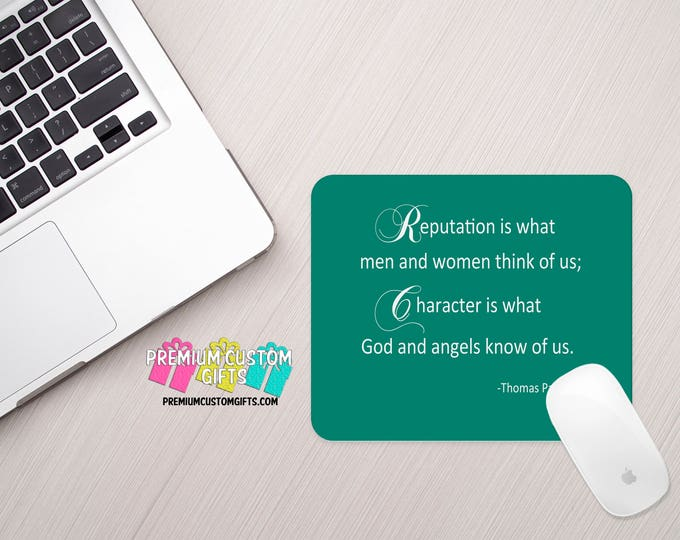 Inspirational Quote Mouse Pad - Custom Mouse Pad - Personalized Mouse Pad - Monogrammed Gift - Office Gift - Valentine's Day - Thomas Paine