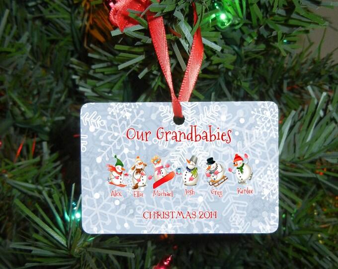 Our Grandbabies Christmas Ornament - Grandparent Gift - Grandparent Ornament - Wedding Gift - Christmas Gift - Engagement Gift Design #OR109