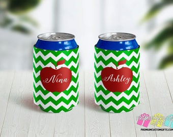 Teacher Gift Can Coolers - Personalized Can Coolers - Bachelorette Can Cooler - Custom Coolies -  Custom Party Favors - Vacation Can Coolers