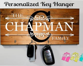 Personalized Key Hanger, Wall Key Rack, Anniversary Gift, Housewarming Gift, Wedding Gift, Key Holders, Personalized Gift, Realtor