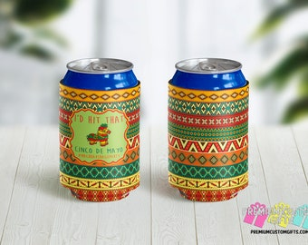 I'd Hit That Can Coolers - Cinco de Mayo Can Coolies - Beverage Insulators - Personalized Can Coolers - Vacation Can Coolers - Destination