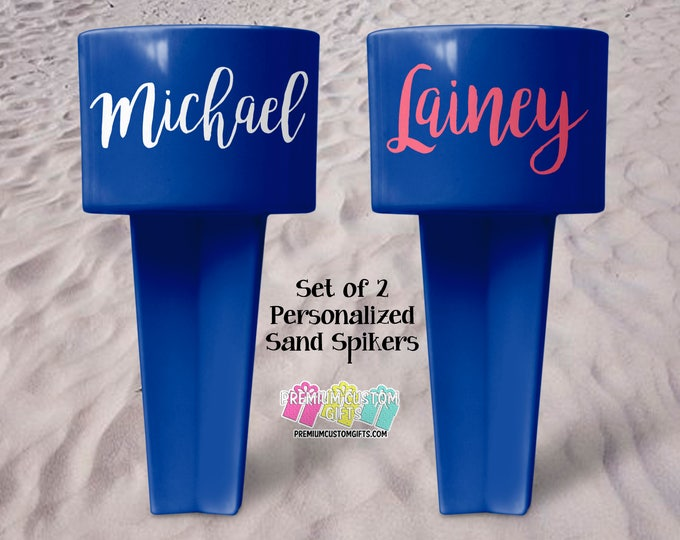 Monogrammed Sand Spike - Beach Sand Spiker - Monogrammed Beach Cup Holder - Custom  Beach Cup Holder - Personalized Beach Cup Holder