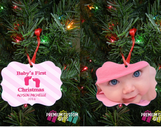 Baby's 1st Christmas Ornament - Design For Boy or Girl - Gift For Christmas - Baby Shower - Expecting Parents or New Parents Design #OR110