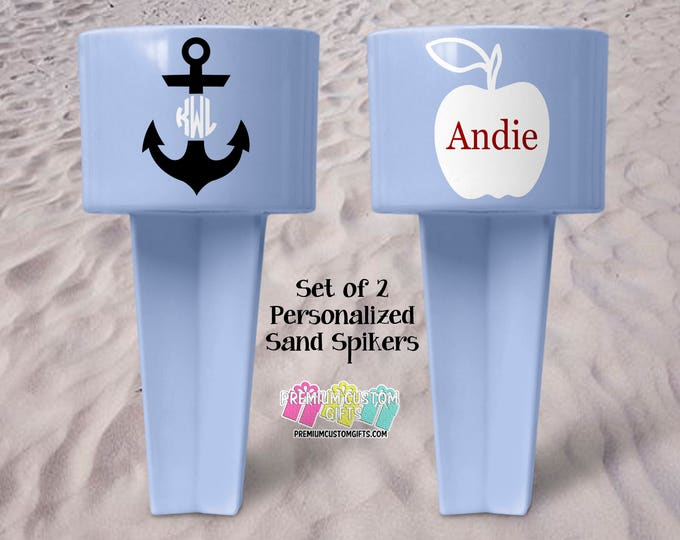 Personalized Sand Spiker - Beach Sand Spiker - Monogrammed Beach Cup Holder - Custom  Beach Cup Holder - Teacher Gifts - Vacation Gift