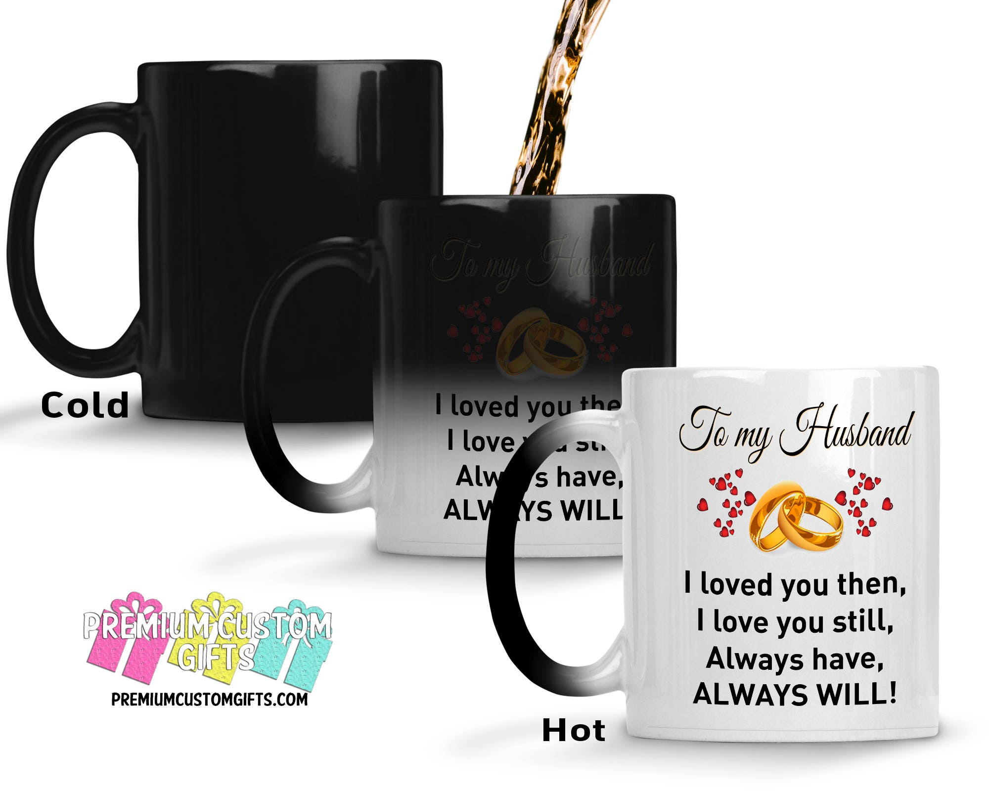 color changing mug to my husband morphing mug gift for him christmas gift made in the usa coffee mug anniversary gift cup