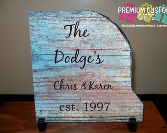 Personalized Slate With Name And Date Great Valentine's Gift For The Home Or Office Keep Image Or Use YOUR OWN IMAGE! Design#SL104