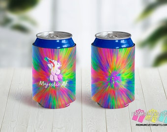 Majestic AF Custom Can Coolers - Personalized Can Coolies - Beer Can Coolers - Custom Can Coolies - Party Can Coolers - Unicorn Can Coolers