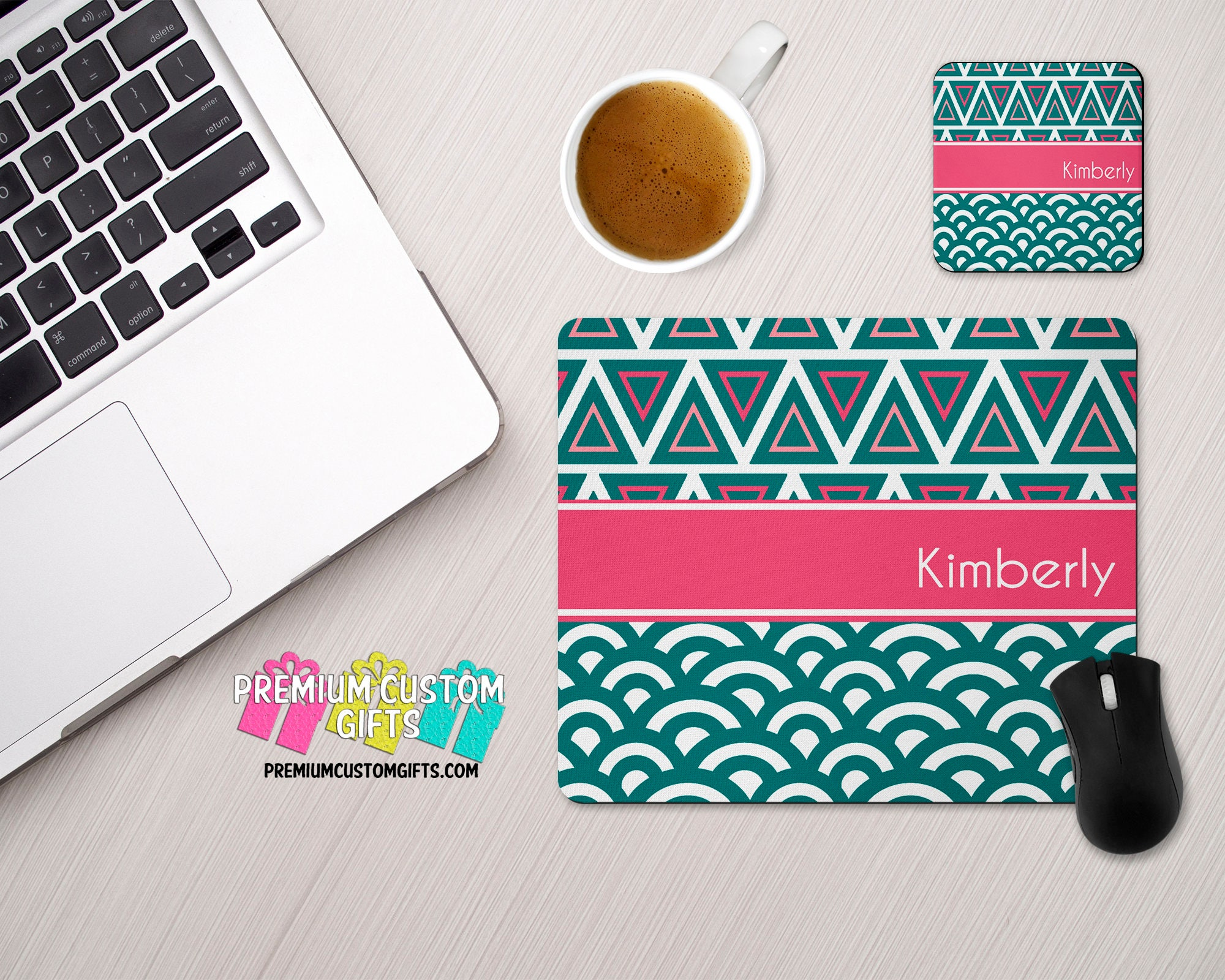 personalized mouse pad and coaster set personalized office desk