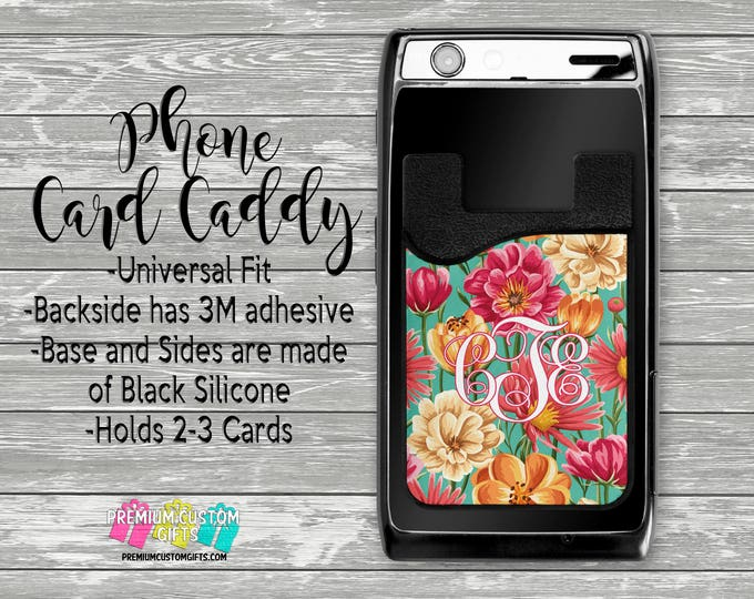 Phone Card Caddy - Personalized Card Holder - Phone Accessories - Gifts For Her - Phone Wallet - Custom Card Holder  - Custom Card Wallet