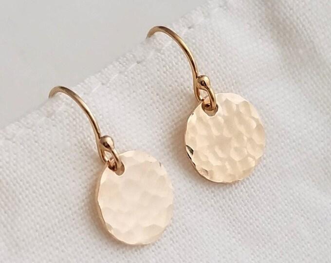 Gold Drop Earrings, Dainty Earrings, Minimal Jewelry