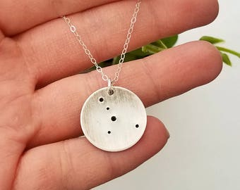 Constellation Necklace - Lunar Jewelry- Sterling Silver Necklace - Zodiac Necklace - Constellation Jewelry