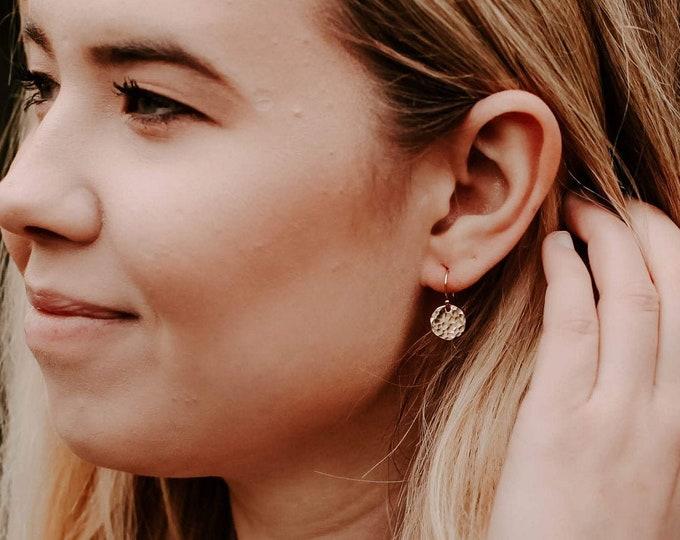 Gold Drop Earrings, Dainty Earrings, Gold or Silver, Minimal Jewelry, Earrings for Women, Gift Idea