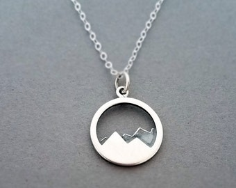 Move Mountains Charm Necklace, Inspirational Jewelry, Sterling Silver Necklace, Graduation Gift, Gift for Her