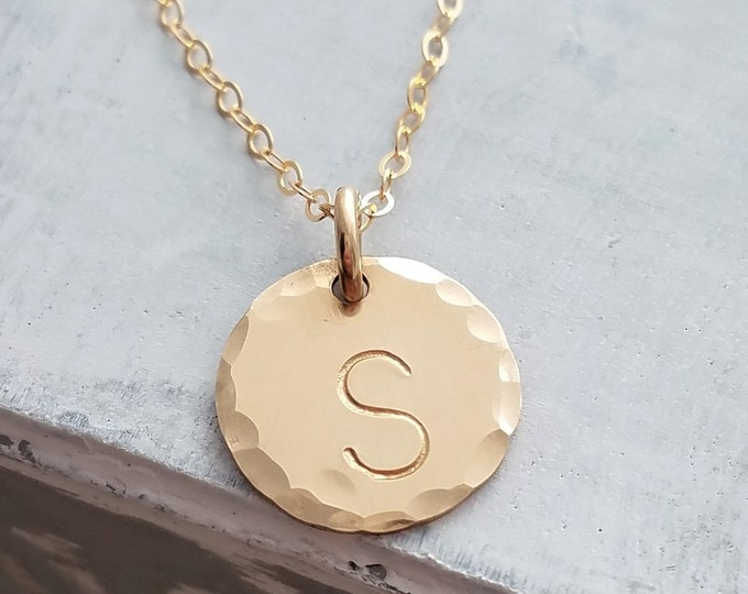 Personalized Initial Necklace, Layering Necklace, Custom Initial Charm, Personalized Jewelry, Gift for Her, Gift Idea