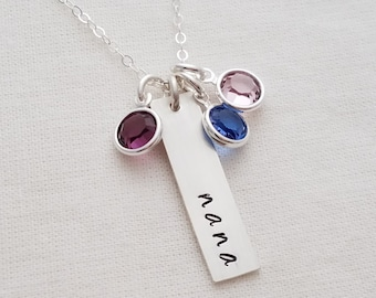 Personalized Necklace for Grandmother,  Custom Name, Mom, Nana, Grandma, Sterling Silver Necklace, Gift Idea, The Stamped Life