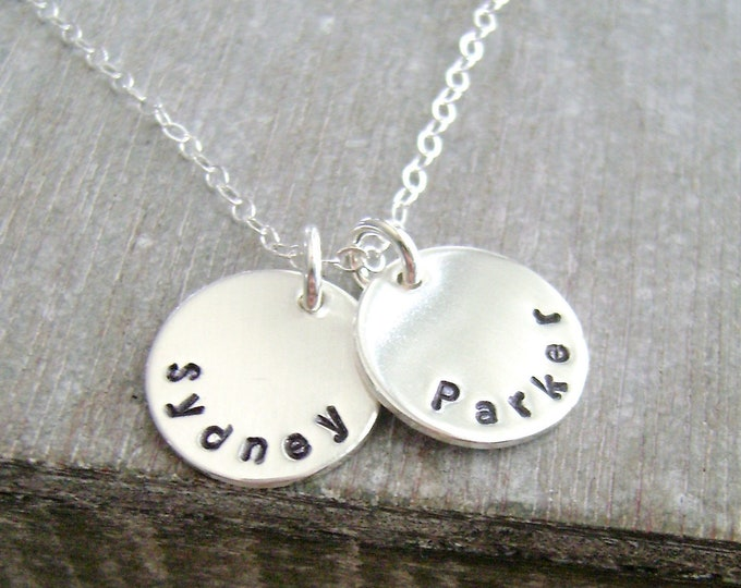 Tiny Name Necklace, Simple Name Necklace, Personalized Name Necklace, Sterling Silver, Layering Necklace, Jewelry, Gift for Her