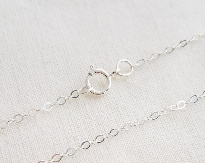 Sterling Silver Cable Chain, Your Choice of Style and Length, Jewelry Supplies, Sterling Chain