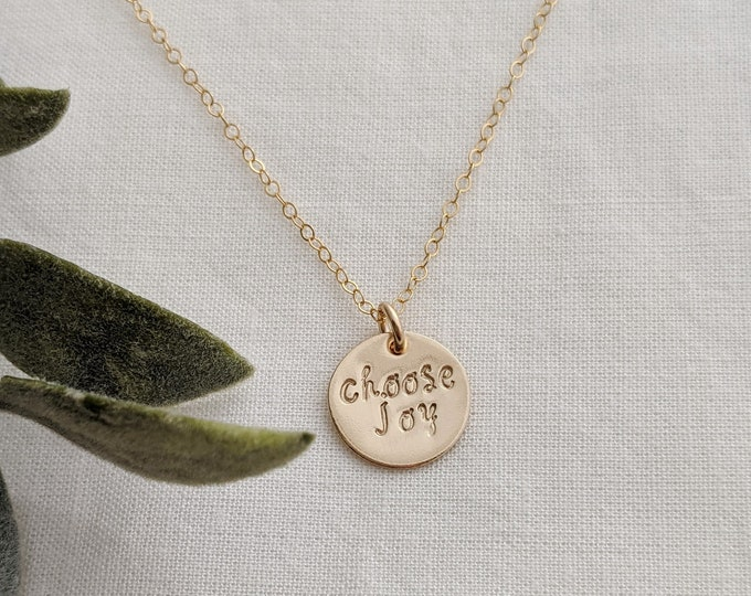 Choose Joy Necklace, Inspirational Necklace, Motivational Gift, 2020 Gift, Gift For Her