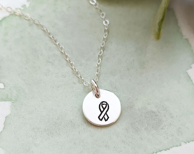 Tiny Ribbon Charm, Ribbon Necklace, Dainty Necklace, Gift for Her, Gold or Silver