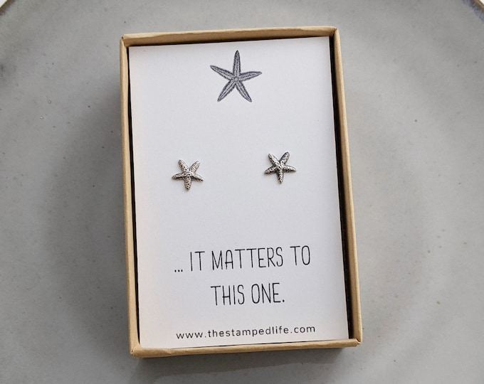 TEACHER GIFT- It Matters to This One Earrings | Starfish gift | End of Year Gift for Teachers | Thank You Gift Teacher