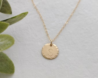 Gold Initial Necklace- Layering Necklace- Custom Initial Charm- Personalized Jewelry- Gift Idea