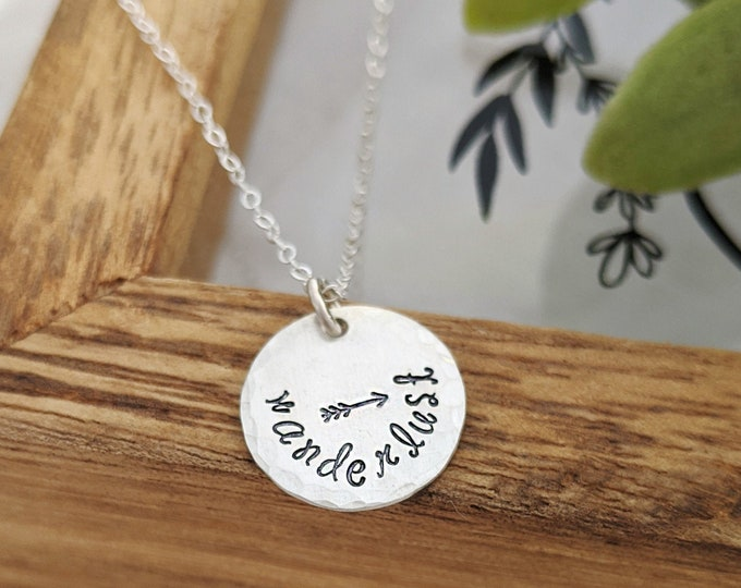 Wanderlust Necklace, Going Away Gift, Graduation Gift, Gift for Her, Necklace, Jewelry