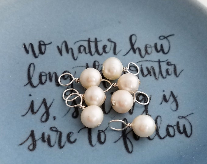 Add A Pearl, Sterling Silver or 14k Gold Filled Wire Wrapped, Add On To Any Of My Listings