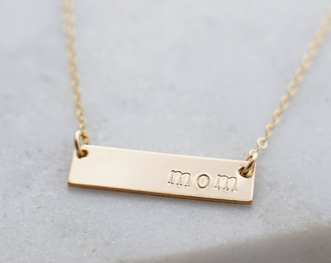Gold Name Necklace, Personalized Jewelry, Dainty Necklace, 14k Gold Fill, Gifts for Mom, Mothers Day Gift, Gift for Her