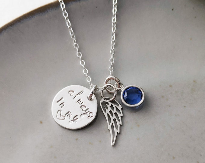 Always in my Heart | Memorial Necklace | Miscarriage Jewelry | Miscarriage Gift | Grief Gift