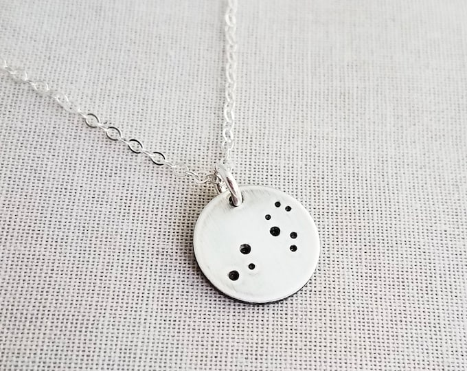 Mini Constellation Necklace, Luner Jewelry, Sterling Silver Necklace  - Zodiac Necklace - Constellation Jewelry