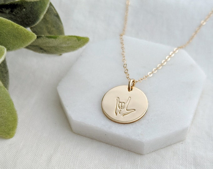 I Love You ASL Sign Necklaces For Besties & Sisters, ASL Jewelry, Gift Idea