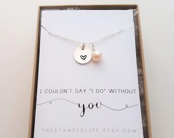 Bridesmaid Necklace, Bridesmaid Proposal, Gift for Bridesmaid