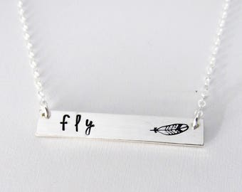 What if I fall, But My Darling What if You Fly, Inspirational Necklace, Sterling Silver Necklace S1158
