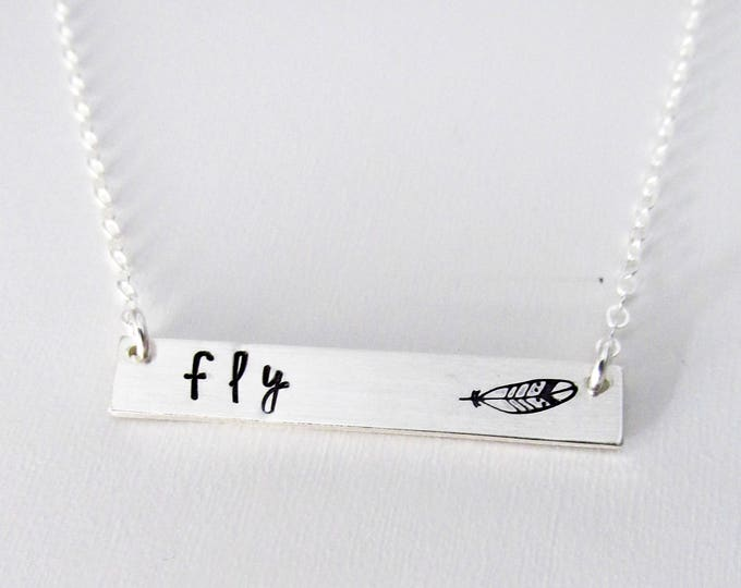 What if I fall, But My Darling What if You Fly, Inspirational Necklace, Sterling Silver Necklace