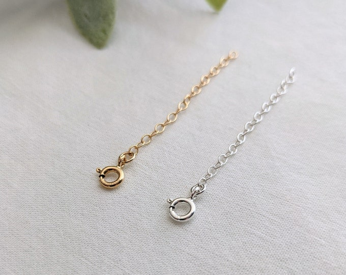 """2"""" Chain Extender, Sterling Silver, Make Chain Longer, Sterling Chain, Jewelry Components, Jewelry Supplies, Cable Chain"""