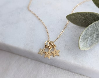 Tiny Personalized Star Necklace, Gold Necklace for Moms, Dainty Necklace, Gift for Her