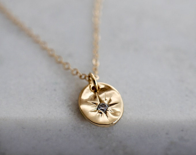 North Star Charm Necklace, Dainty Minimal Necklace, Gold Star Necklace, The Stamped Life, Gold Necklace, Gift for Her
