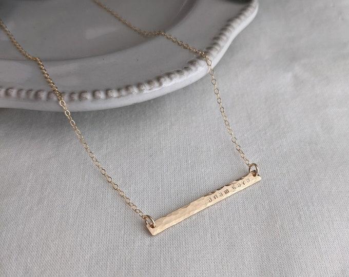 Anam Cara Necklace, Gold Bar Necklace, Irish Jewelry, Best Friend Gift