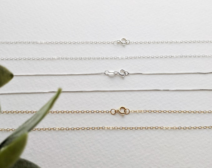 Build Your Own Necklace or Replacement Chain, Sterling Silver Chains, 14k Gold filled Chains, The Stamped Life