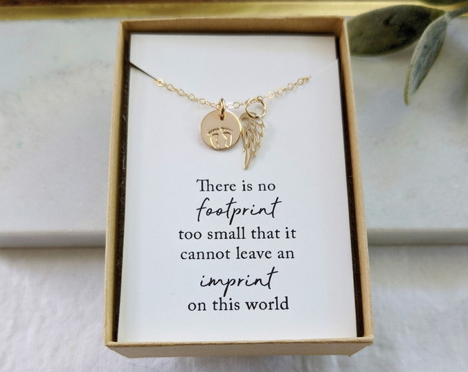 Miscarriage Necklace   Memorial Necklace   Miscarriage Jewelry   Necklace With Card