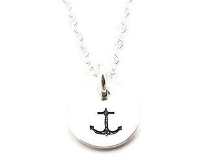 Anchor Necklace, Dainty Silver necklace, Anchor Jewelry, Gift for Her, Gift Idea