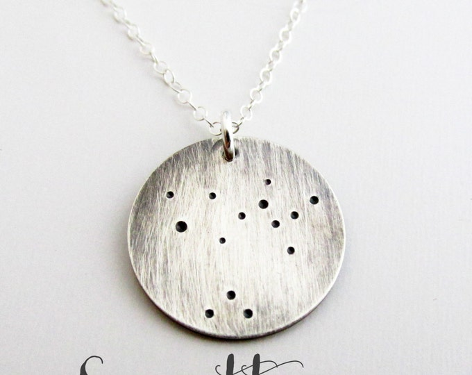 Constellation Necklace - Lunar Jewelry- Sterling Silver Necklace - Sigittarius Necklace - Zodiac Necklace - Constellation Jewelry